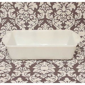 Fire King Milk Glass Loaf Dish  B9